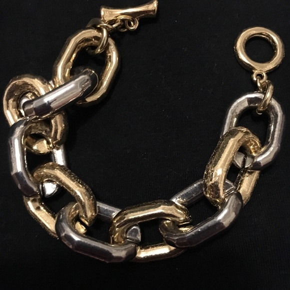 Jewelry - Gold and metal chain bracelet
